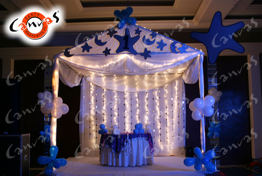 canvas decoration services for birthday party themes